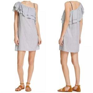 Splendid ⭐ Assymetrical Striped One shoulder Dress